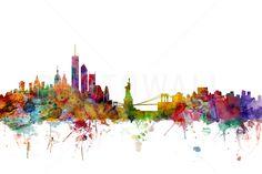 New York Skyline - Fotobehang & Behang - Photowall