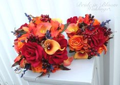 Excited to share the latest addition to my shop: Autumn wedding flowers - Fall wedding bouquet set - Bride bouquet - Bridesmaid bouquets - Boutonnieres Fall Wedding Bouquets, Fall Wedding Flowers, Bride Bouquets, Purple Wedding, Wedding Colors, Bridesmaid Bouquets, Fall Flowers, Spring Wedding, October Wedding