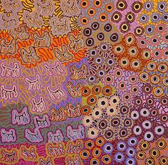 ymutate: Kelly Napanangka Michaels: Mina Mina Jukurrpa (Mina Mina Dreaming) Acrylic on Linen, 2010 107 x 107 cm source: warlu.com