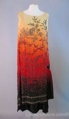 ombre dress with beading, orientalist
