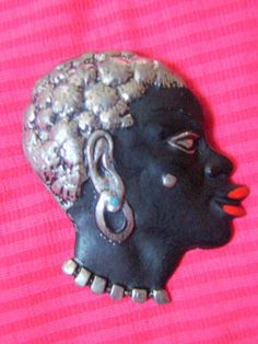 Beautiful Vintage Blackamoor African Brooch by AntiqueAlchemists, $45.00