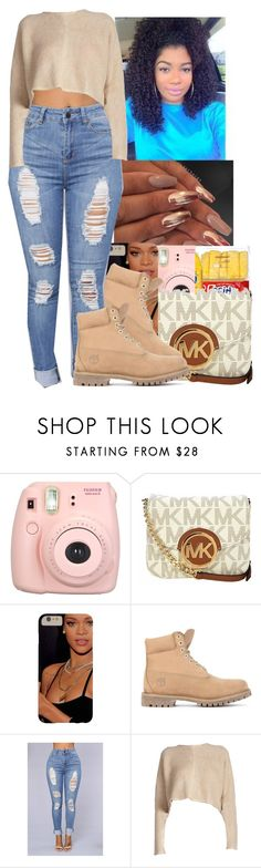 """I'm Back And I'm BetterSo Don't Try No $h*tShowing No Mercy"" by jazzy-love1164 ❤ liked on Polyvore featuring GET LOST, Fujifilm, Michael Kors and Timberland"
