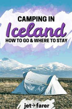 Heading to Iceland and looking for a place to stay? Try camping! Click through for our handy guide, which has everything you need to know to plan a camping trip on Iceland's Ring Road! Road Trip Checklist, Travel Checklist, Iceland Travel Tips, Europe Travel Tips, Camping Iceland, Europe Destinations, Honeymoon Destinations, Travel Abroad, International Travel Tips
