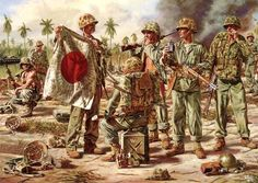 """Trophies: Victory at Tarawa"" (Trofeos: Victoria en Tarawa), de Rick Reeves. http://www.elgrancapitan.org/foro/viewtopic.php?f=12&t=17519&p=903322#p903322"