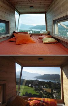 Tall Tree House Overlooks Picture-Perfect Town, Alps & Sea