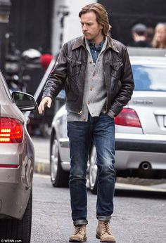 Quiet on set: Ewan McGregor gets ready for action on the London set of new film Our Kind O...