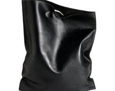 fluo bag grey shoppingbag made of soft calf leather