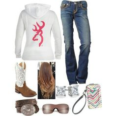 A fashion look from February 2013 featuring micro shorts, cowgirl boots and earring jewelry. Browse and shop related looks. Cute Country Outfits, Country Girl Style, Country Fashion, Cute Outfits, My Style, Country Casual, Country Life, Cowgirl Outfits, Cowgirl Style