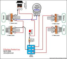 True Bypass Looper Volume, LED, DPDT Switch Wiring