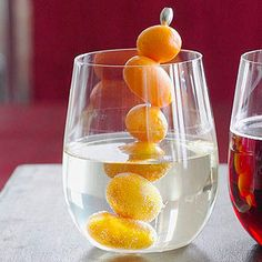 Orange and Mint Sangria This easy and refreshing drink is party-ready in 10 minutes. To garnish, thread whole kumquats onto skewers.