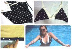 Transforma un bañador entero en un bikini  www.quenotecueste.blogspot.com