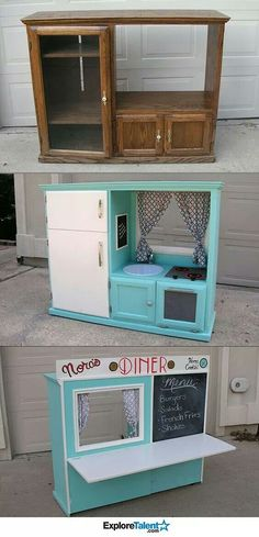 Kid Kitchens Mobile Home Kitchen Cabinets For Sale 452 Best Recycle Children S Images In 2019 Play Diy Kids Toddler Diner Tv Stand