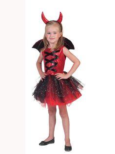 Disfraz diablesa tutú con alas niña Halloween: Este disfraz de diablesa para…