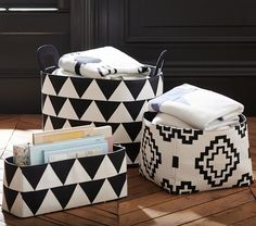 The Emily & Meritt Black & White Storage Changing Table #pbkids