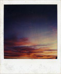 Sunset polaroid.