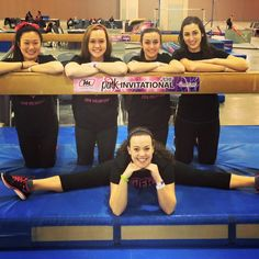 We had some lovely helpers from the University of Delaware Gymnastics Club at the 2016 Pink Invitational! #MancinoMeets #NAIGC