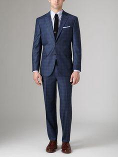 Napoli Glen Plaid Suit by Jack Victor Studio at Gilt