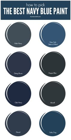 Check out the best navy paint currently available on the market. : Check out the best navy paint currently available on the market. Navy Accent Walls, Navy Blue Walls, Dark Blue Bedroom Walls, Navy Blue Houses, Dark Navy Blue, Blue Bedroom Paint, Dark Blue Color, Navy Color, Living Room Ideas Dark Blue