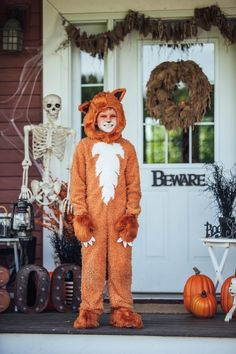 Cute kids Halloween costume ideas- Run free with our exclusive child's fox costume! Stay cozy this Halloween and have fun!