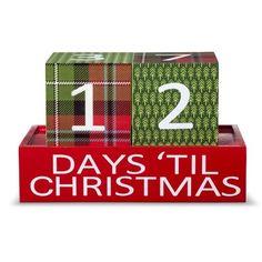 Threshold™ Plaid Christmas Countdown Advent Calendar