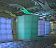 Lighted columns and walls by Seeyond. So cool