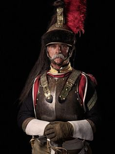 Philippe Charpagne, sergent-chef, 9e Régiment de Cuirassiers.  2015 Waterloo Re-enactment.