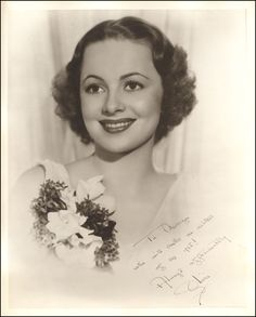 That Olivia DeHavilland picture is quite a find! Description from artmovieswoodandwhatnot.blogspot.com. I searched for this on bing.com/images