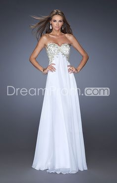 2014 Floor-length Sweetheart Sheath/Column Empire Chiffon Prom Dresses