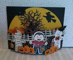 Cookie Cutter Halloween, Halloween Scenes Edgelits bendy card (this project is not on her blog, she posted on FB, just making sure to give credit where credit is due :) created by: Brenda Anderson)