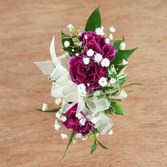 triple #pixie #carnation pin-on #corsage by Ben White Florist.
