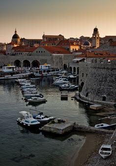 Golden hour in Dubrovnik, Croatia