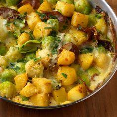 Die Eiermilch sorgt bei diesem Gratin für die Bindung und der Bergkäse für den pikant kräftigen Geschmack.
