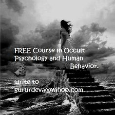 Free course in Occult Human Psychology