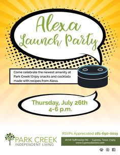 In one month, we are hosting a Launch Party for our newest Amenity—Alexa! Join us on July 26th, between 4:00-6:00 PM to enjoy some snacks and cocktails made with recipes from Alexa.