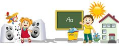 English, Spanish, French, German, Russian, Chinese Lessons for Kids
