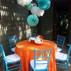 Grey teal and Orange Baby Shower(replace real with green?) | party ...
