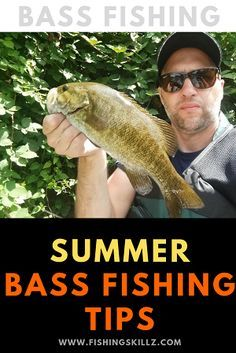 Check out this great list of summer bass fishing tips for both largemouth bass and smallmouth bass. Check out this great list of summer bass fishing tips for both largemouth bass and smallmouth bass. Crappie Fishing Tips, Bass Fishing Lures, Fishing Bait, Carp Fishing, Fishing Rods, Sport Fishing, Fishing Tackle, Fishing Pliers, Fishing Tricks