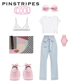 """Pink love"" by didemyangin on Polyvore featuring moda, Frame Denim, Monki, Cosabella, ZeroUV, Lulu Guinness, Skechers ve adidas"