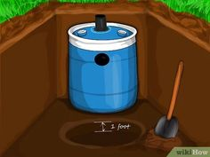 How to Construct a Small Septic System: 29 Steps (with Pictures) The Effective Pictures We Offer You About Dog toilet area diy A quality picture can tell you many things. Diy Septic System, Septic Tank Systems, Small Septic Tank, Fossa Séptica, Outhouse Bathroom, Liquid Waste, Water Waste, Dog Toilet, Composting Toilet