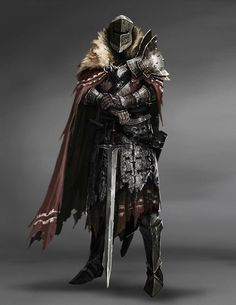 by Matias Trabold Rehren Fantasy Armor, Medieval Fantasy, Dark Fantasy Art, Medieval Knight, Dungeons And Dragons Characters, Dnd Characters, Fantasy Characters, Fantasy Character Design, Character Design Inspiration