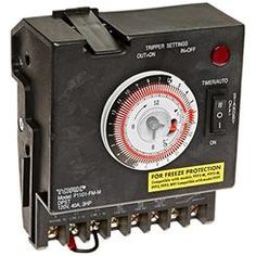 TORK a brand of NSi Industries LLC NSI Industries P1101FM-M 24 Hour DPST Swimming Pool Timer with Fireman Switch