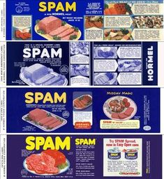 A Brief History of Spam, an American Meat Icon - Eaterclockmenumore-arrownoyes : From culinary tradition to object of scorn and back again Spam Recipes, Dump Cake Recipes, Retro Recipes, Kraft Recipes, Spam Can, Meat Icon, Meat For A Crowd, 1950s Food, Meat And Potatoes Recipes