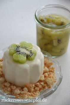 ♥ Zuckersüße Äpfel ♥: - Anzeige -Die Zespri Green Kiwi mit einem leckeren Rezept für Kiwigrütze mit Vanille- und Kokospudding