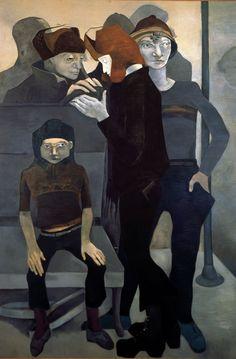 Neş'e Erdok, BANLİYÖ TRENİ,   200X135 CM,1982, TUAL ÜZERİNE YAĞLI BOYA Paintings Famous, Bernard Shaw, Great Women, Figure Painting, Illustrators, Istanbul, Drawings, Face, Artist