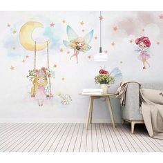 Nursery Wall Murals, Nursery Wallpaper, Room Wall Decor, Mural Wall, Wallpaper Store, Fairy Wallpaper, Removable Wall Murals, Kids Room Design, Decoration