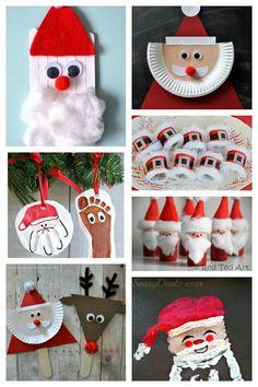 20 fun santa crafts - Santa Claus Activities