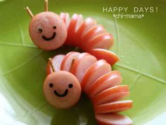 Creative food T. Cute Snacks, Snacks Für Party, Cute Food, Good Food, Snacks Kids, Funny Food, Healthy Snacks, Food Art For Kids, Cooking With Kids