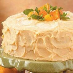 Orange Cake with Orange Buttercream Frosting.