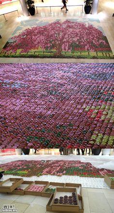cherri, cupcakes, cupcak mosaic, mosaics, blossom trees, art, fun recip, 10000 cupcak, cherry blossoms