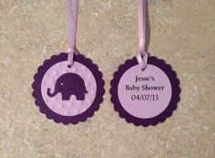 Elephant favor/gift tags (set of 10) on Etsy, $10.50